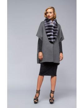 Пальто из кашемира с шиншиллой модель B105