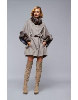 Пальто из кашемира с шиншиллой модель B107