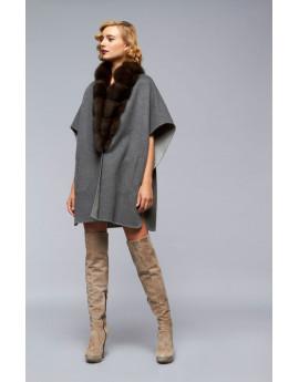 Пальто из кашемира с соболем модель B102