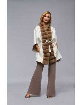 Пальто из кашемира с соболем модель B103