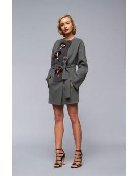Пальто из кашемира с норкой модель B188